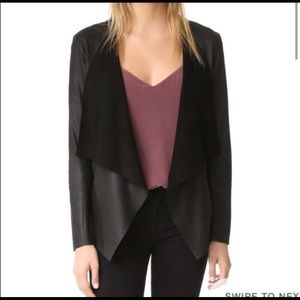 BB Dakota Derby Leather Drape Jacket